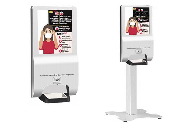 Automatic Hand Sanitizer LCD Kiosk