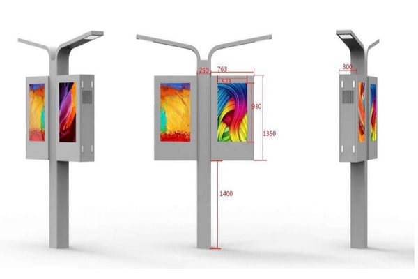 Outdoor Wall-Mounted Digital Signage